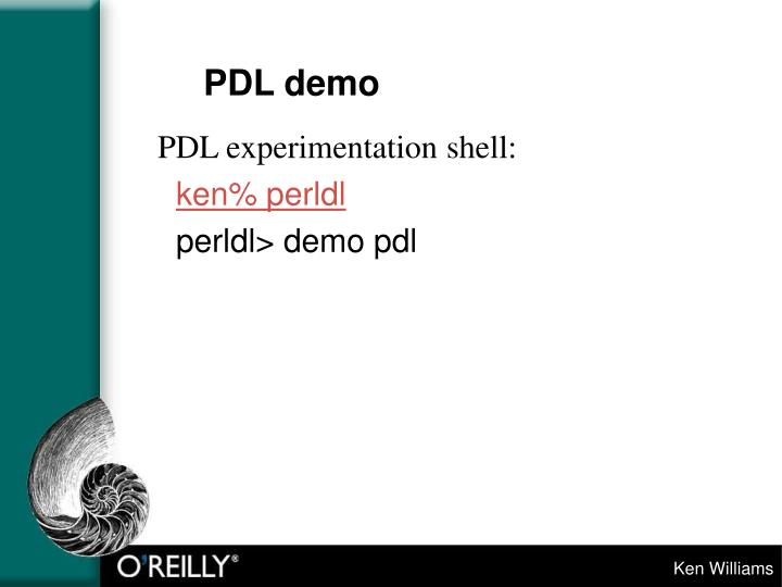 PDL demo