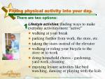 fitting physical activity into your day