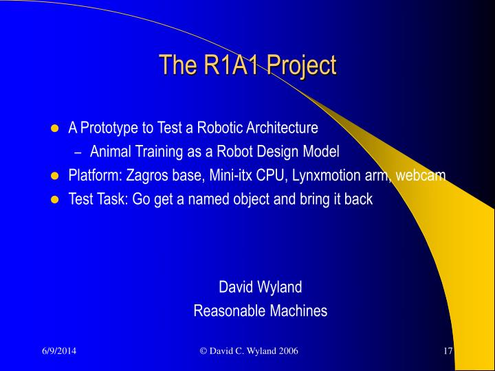 The R1A1 Project