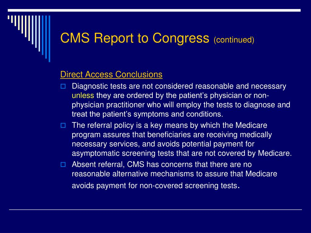 CMS Report to Congress
