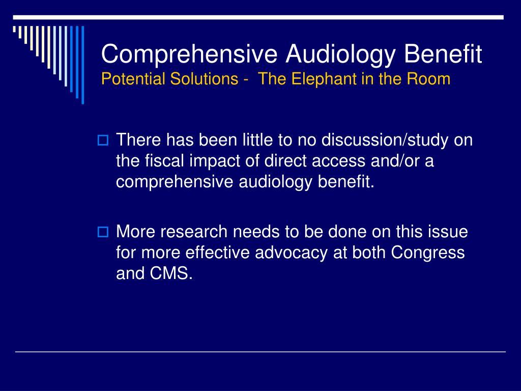 Comprehensive Audiology Benefit