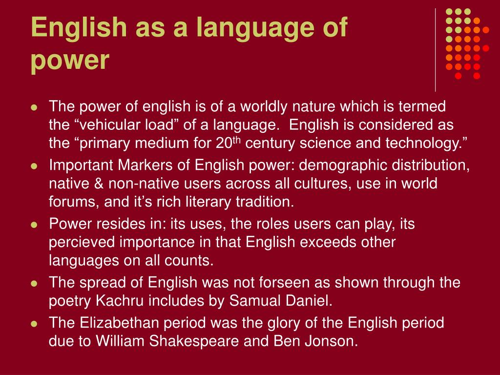 English as a language of power