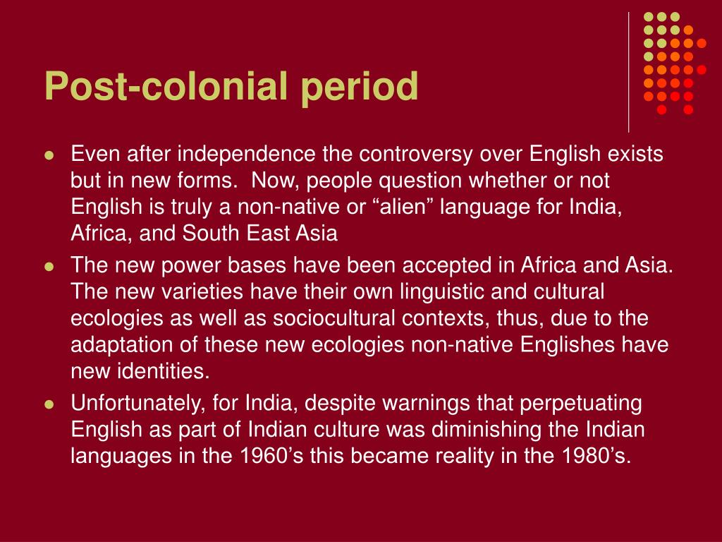 Post-colonial period