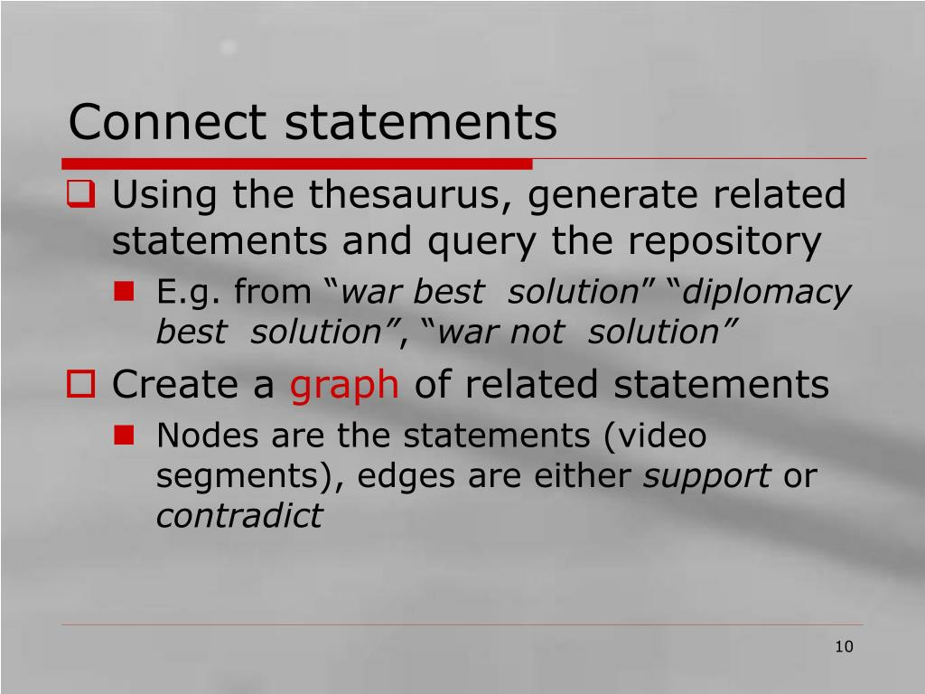 Connect statements