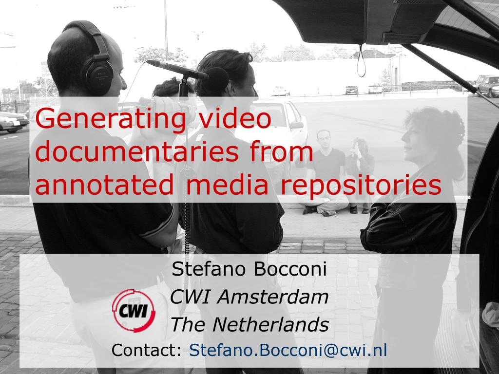 generating video documentaries from annotated media repositories l.