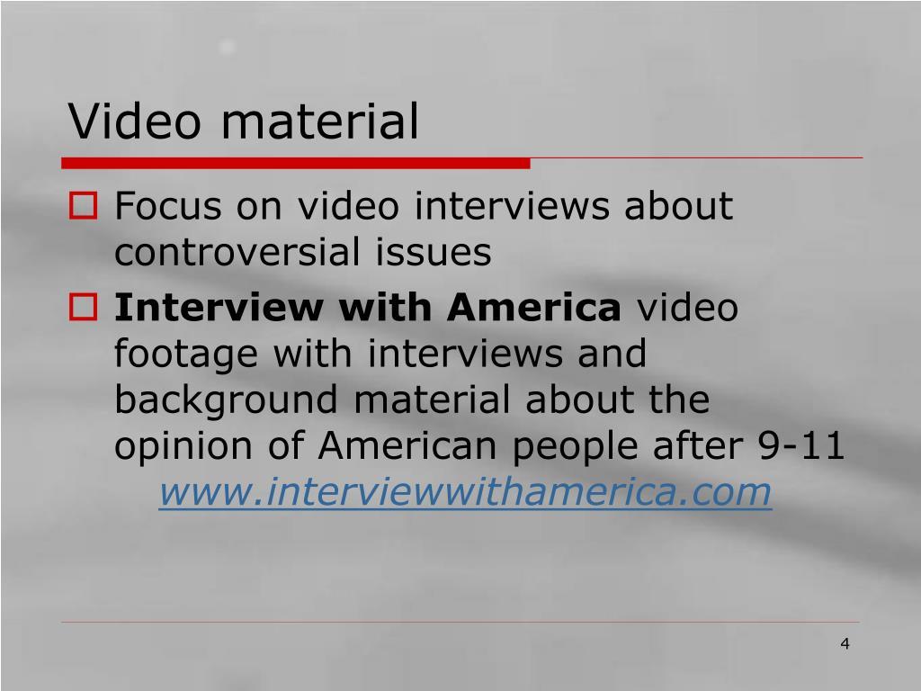 Video material