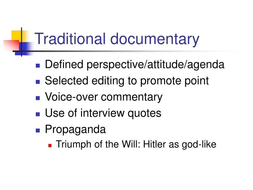 traditional documentary l.