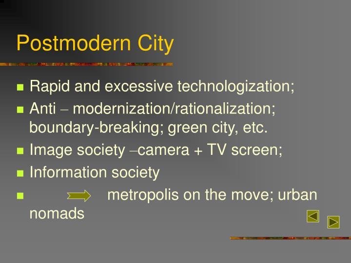 Postmodern city