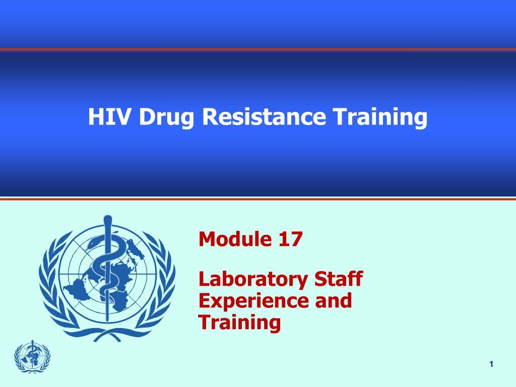 hiv drug resistance training l.