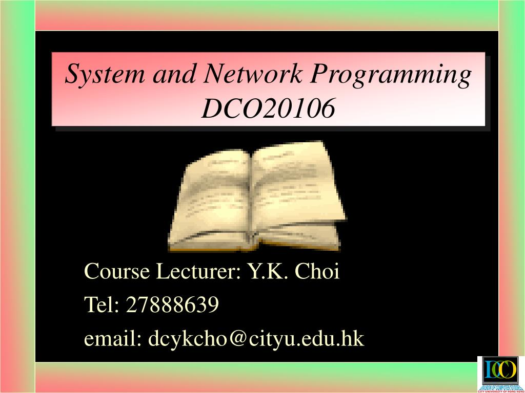 system and network programming dco20106 l.