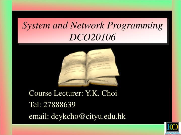 System and network programming dco20106