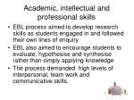 academic intellectual and professional skills