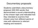 documentary proposals