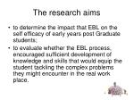 the research aims