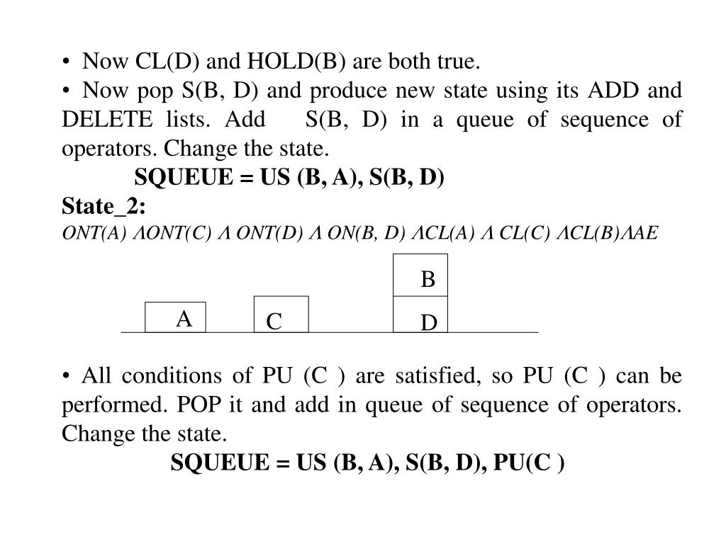 Now CL(D) and HOLD(B) are both true.