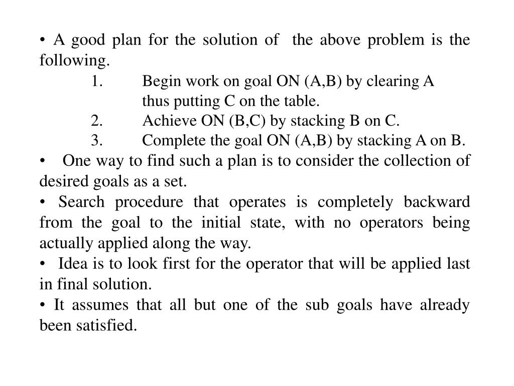 A good plan for the solution of  the above problem is the following.