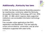 additionally kentucky has laws
