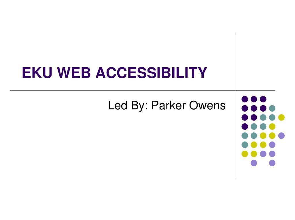 eku web accessibility l.