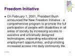 freedom initiative