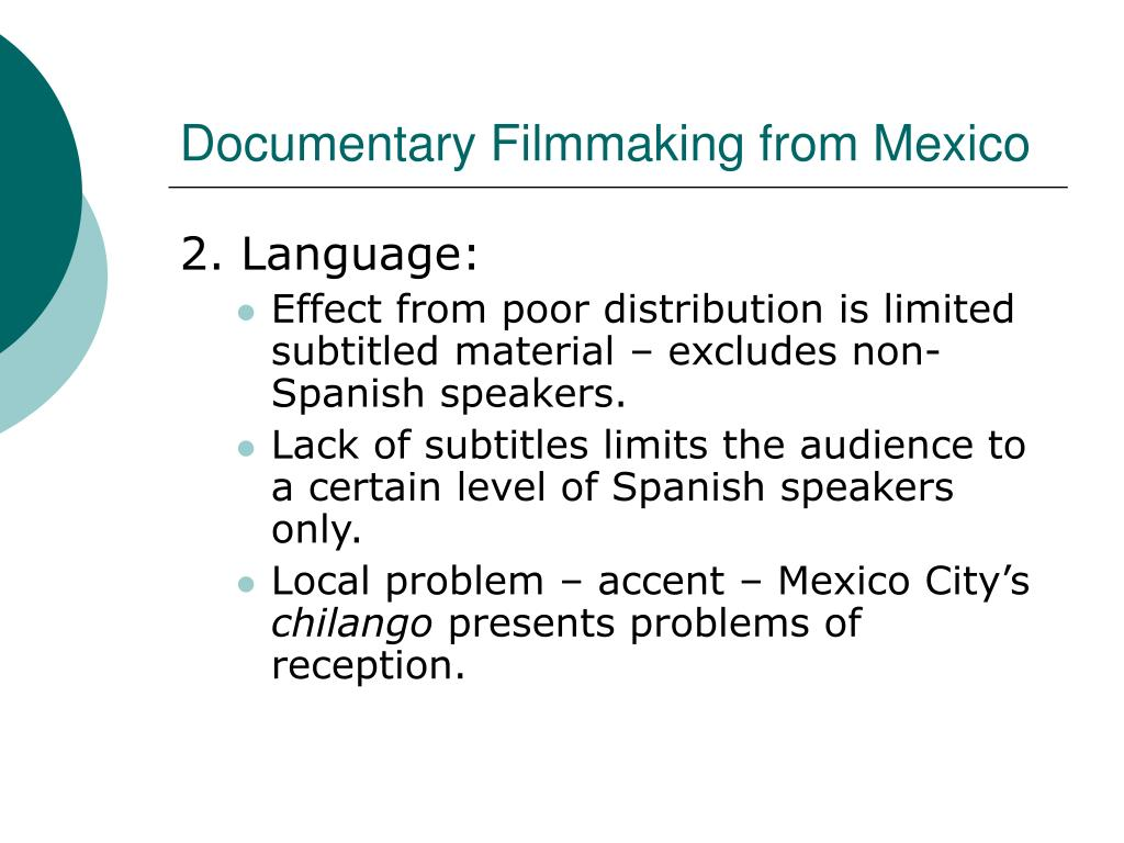 Documentary Filmmaking from Mexico