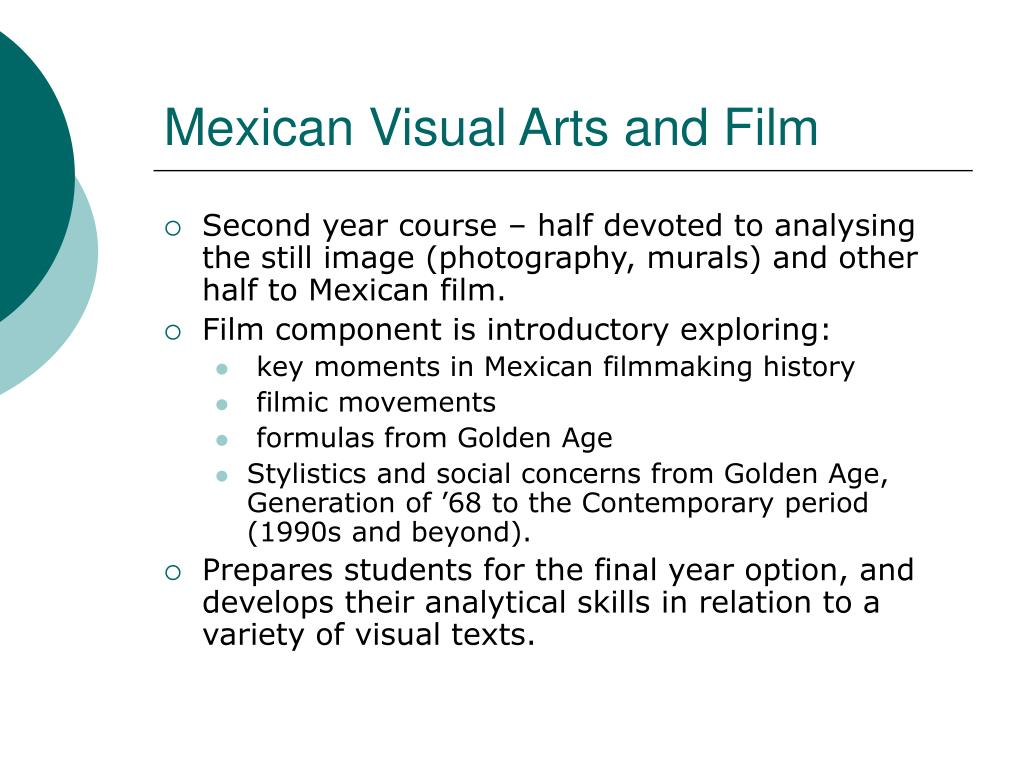 Mexican Visual Arts and Film