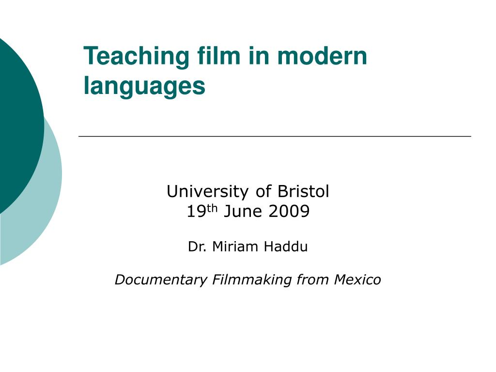 teaching film in modern languages l.