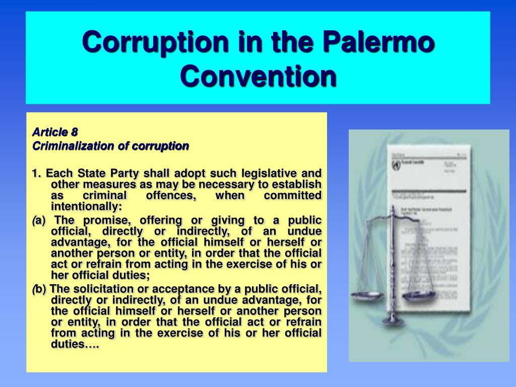 Corruption in the Palermo Convention