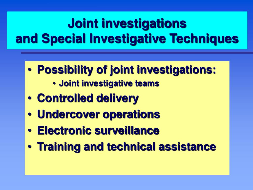 Joint investigations
