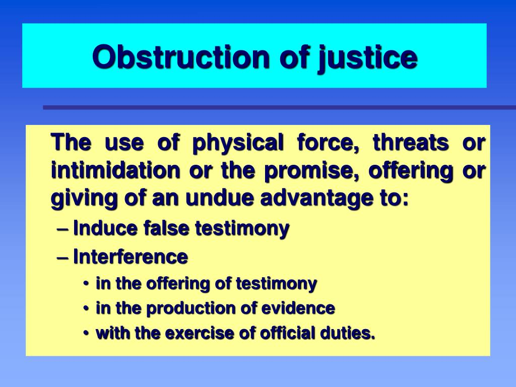 Obstruction of justice