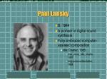 paul lansky
