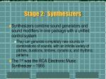 stage 2 synthesizers