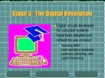 stage 3 the digital revolution