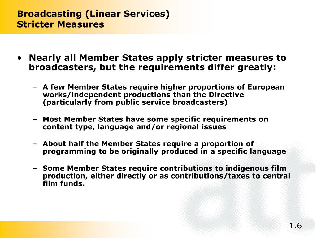 Broadcasting (Linear Services)
