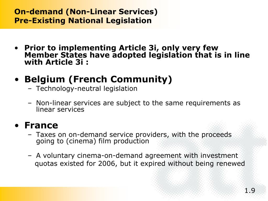 On-demand (Non-Linear Services)