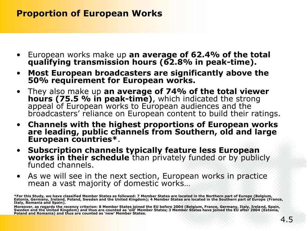 European works make up