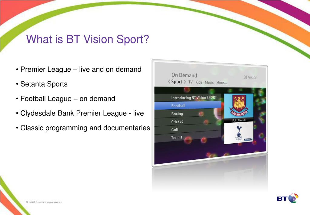 What is BT Vision Sport?