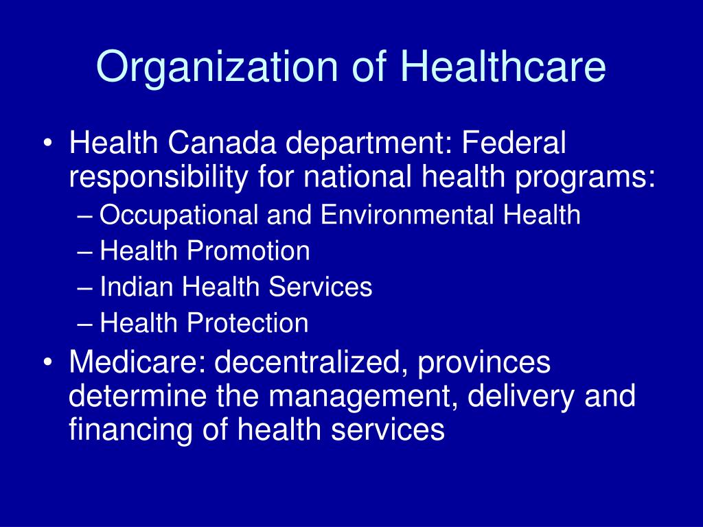 Organization of Healthcare