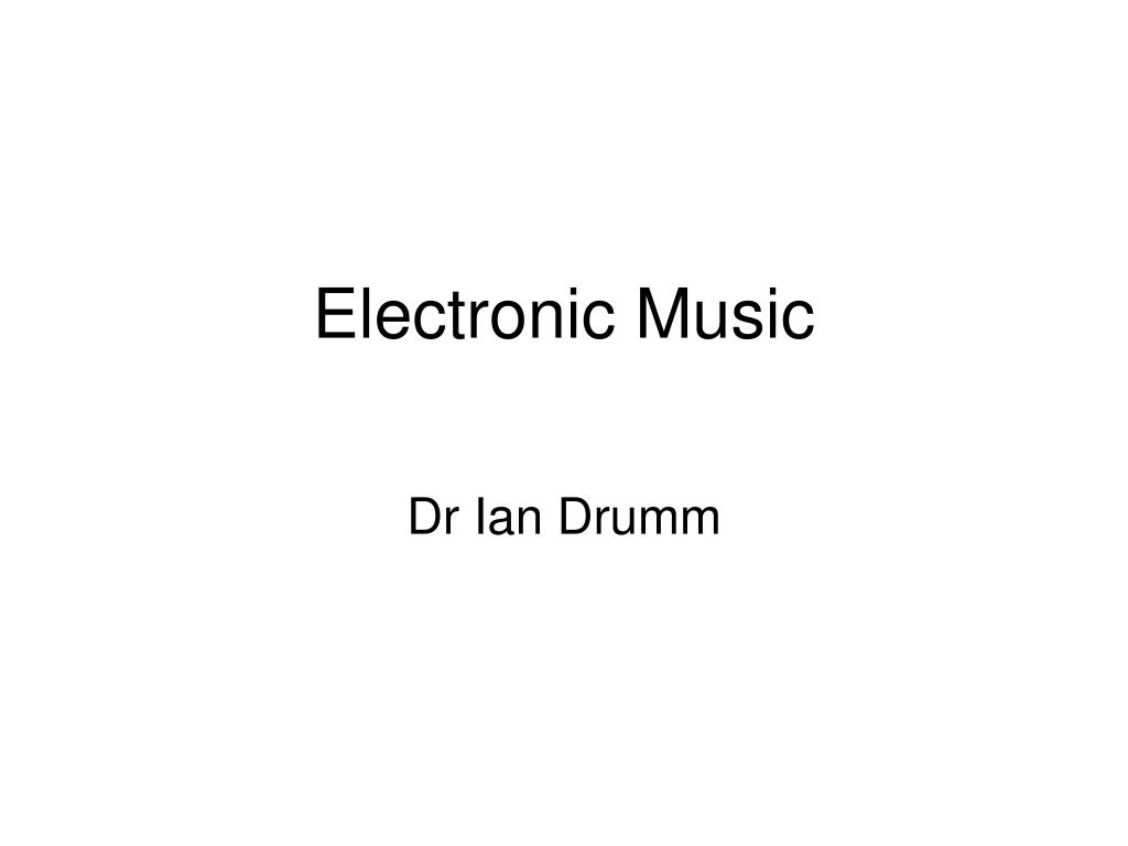 electronic music l.