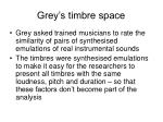 grey s timbre space