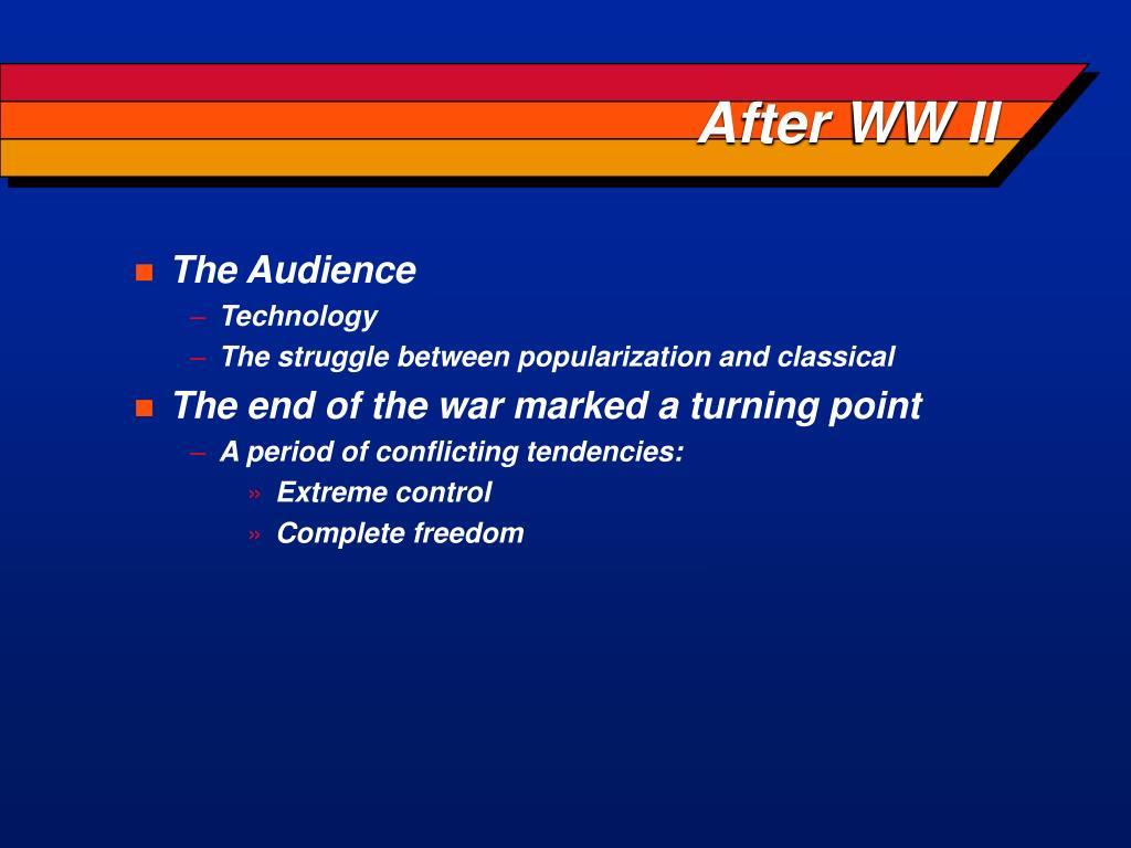 After WW II