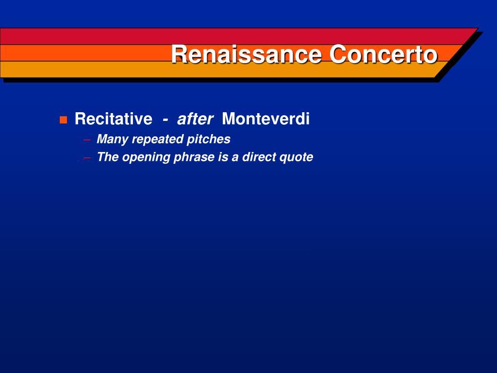 Renaissance Concerto
