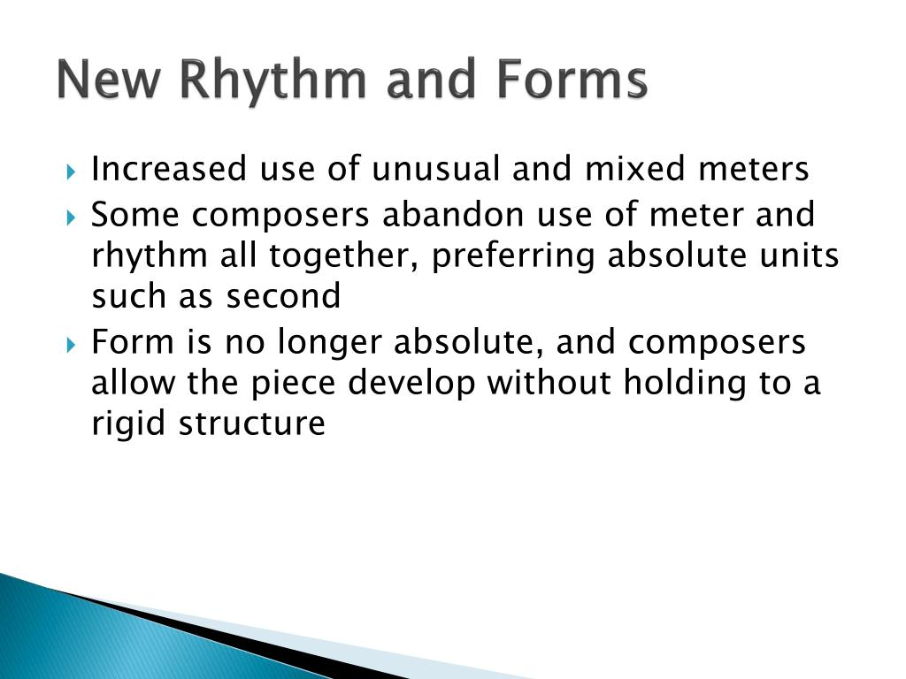 New Rhythm and Forms