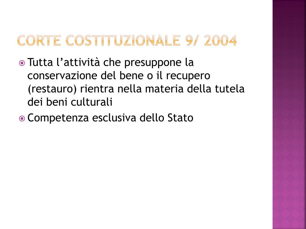 Corte costituzionale 9/ 2004