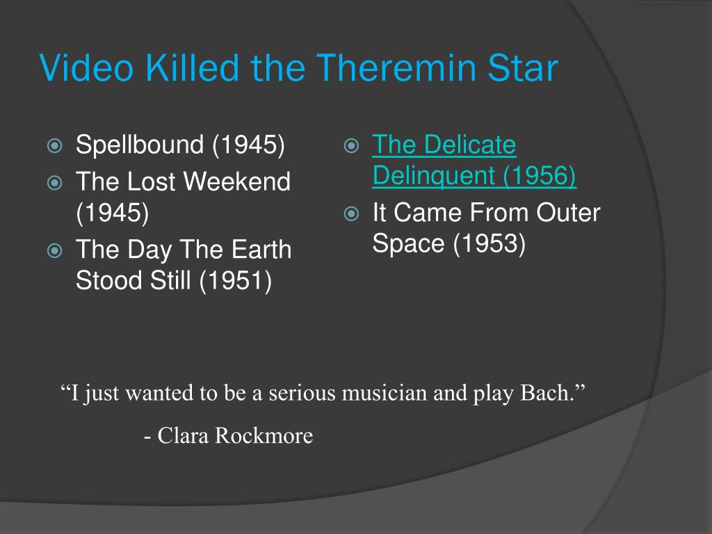 Video Killed the Theremin Star