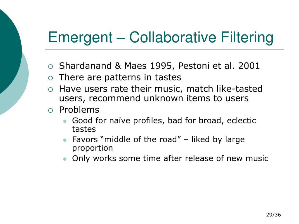 Emergent – Collaborative Filtering