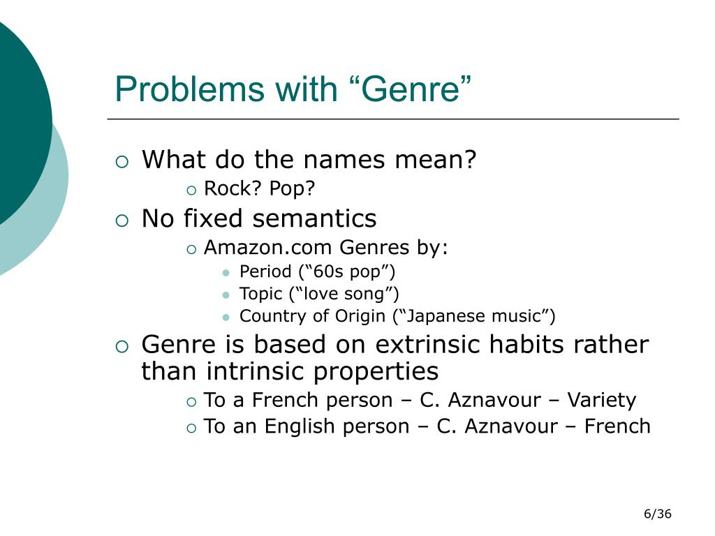 song genre classification