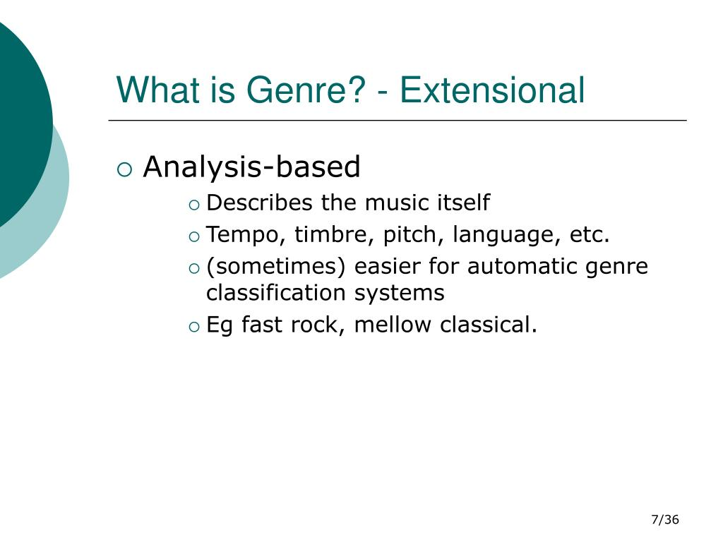 What is Genre? - Extensional