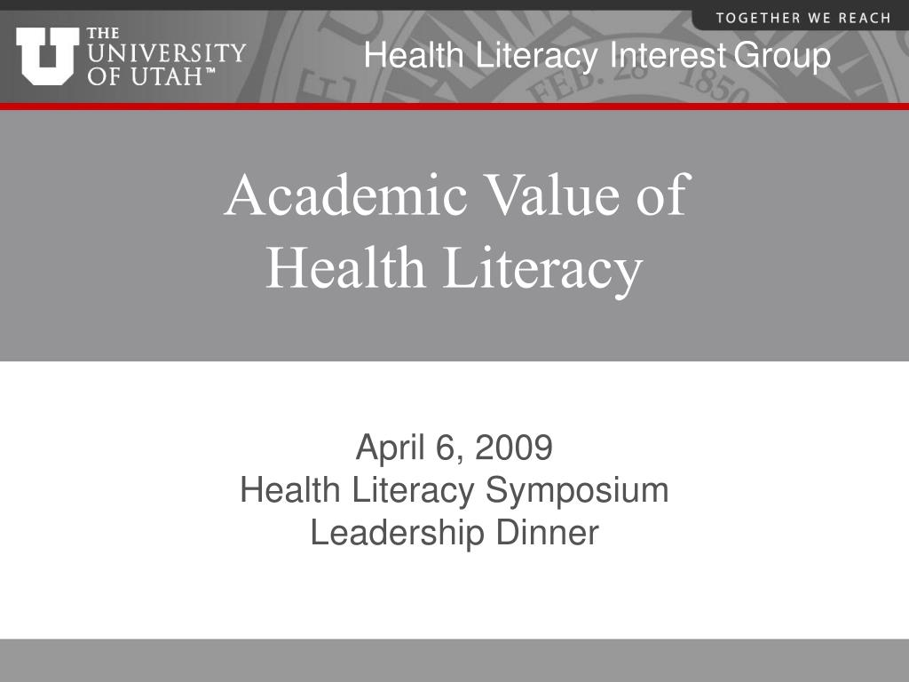 academic value of health literacy l.