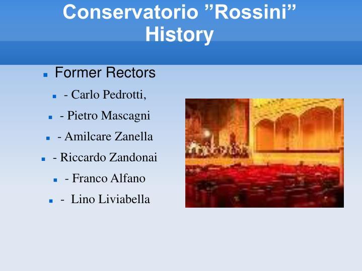 Conservatorio rossini history