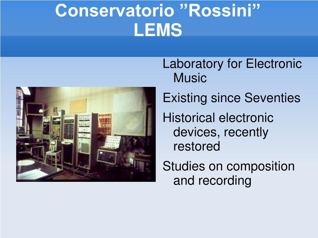 """Conservatorio """"Rossini"""""""